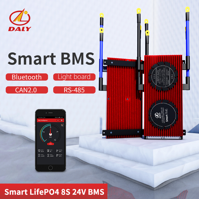 High Current  Smart BMS 8S 24V  Bluetooth+485 To USB Device +CAN+NTC +UART  Togther Lion LiFePO4 LTO  Batteries2.3V/2.4V Conn