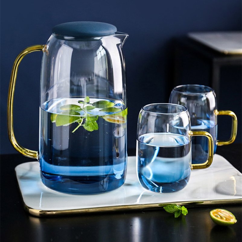1400ml Heat-resistant Color-changing Glass Teapot Chinese Kung Fu Tea Set Large-capacity  Coffee Juice Homeware Pot