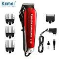 Kemei, Профессиональная Парикмахерская Машинка для стрижки волос, электрическая Беспроводная Машинка для стрижки волос, триммер для бороды, с...