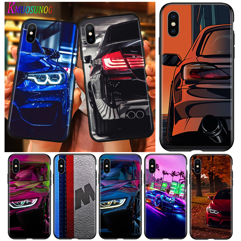Cover For iPhone 11 Pro Max SE Shell Blue Red Car for Bmw for iPhone XS Max XR X 8 7 6S 6 Plus 5 S Phone Case image
