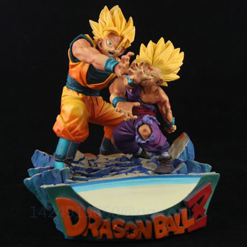 Dragon Ball Super Saiyan Son Gohan Son Goku Father And Son Kakarotto Battle Damaged Edition Animation PVC Action Model Toy G427