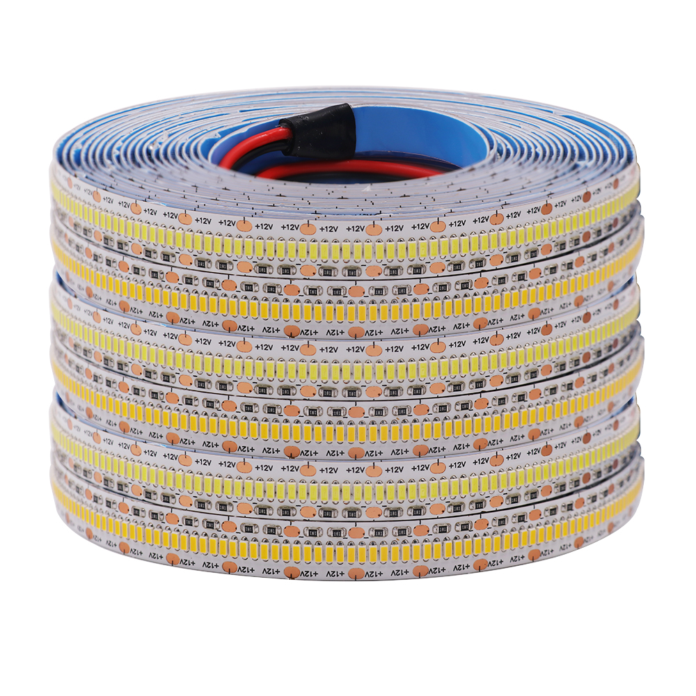Super Bright Flexible LED Strip 2800LED 3014 SMD LED Light 5m 12V DC 256LEDs/m Warm White Tape Strip Home Decoration Lighting