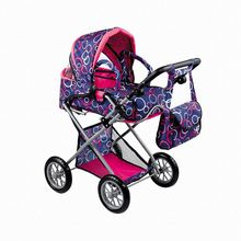 Hot Sale 22inch 16inch Silicone Reborn Baby Doll Studio Photography Props Classical Style Upscale Toy Stroller Trolley