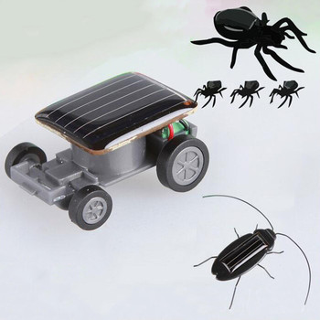 1pc Solar Car Gadget Smallest Solar Power Mini Toy Car Racer Educational Solar Powered Toy Energia Solar Kids Toys Cricket 1