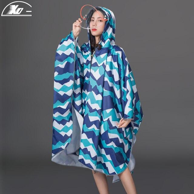 Long Women Raincoat Poncho Waterproof Suit Rain Coat Adult Outdoor Hiking Windbreaker Rain Partner Suit Chaquetas Mujer Gift 1