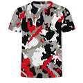 New 2021 summer 3D Printing Cool Camouflage Men's And Women's Casual Style Short Sleeve T-Shirt 130-6XL