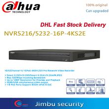 Dahua POE NVR 16CH 16 PoE port NVR5216 16P 4KS2E & 32CH NVR5232 16P 4KS2E 4K video recorder H.265 Pro NVRUp to 12Mp resolution