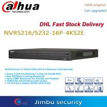 Dahua poe nvr 16ch 16 poe porto NVR5216 16P 4KS2E & 32ch NVR5232 16P 4KS2E 4k gravador de vídeo h.265 pro nvrup a resolução 12mp