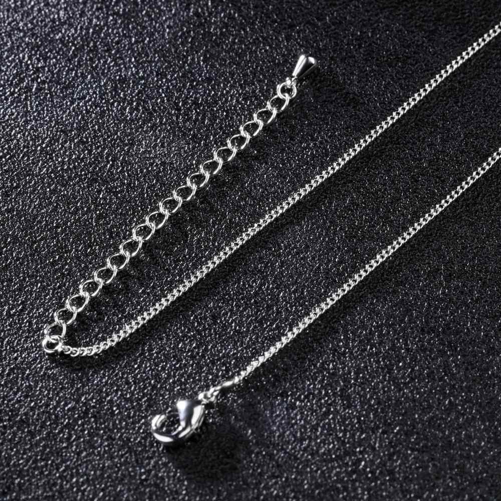 MAE srebrny złoty 50cm wypełniona stałe naszyjniki Curb Link łańcuchy kobiet mężczyzn miedziane spersonalizować moda biżuteria akcesoria naszyjnikowe