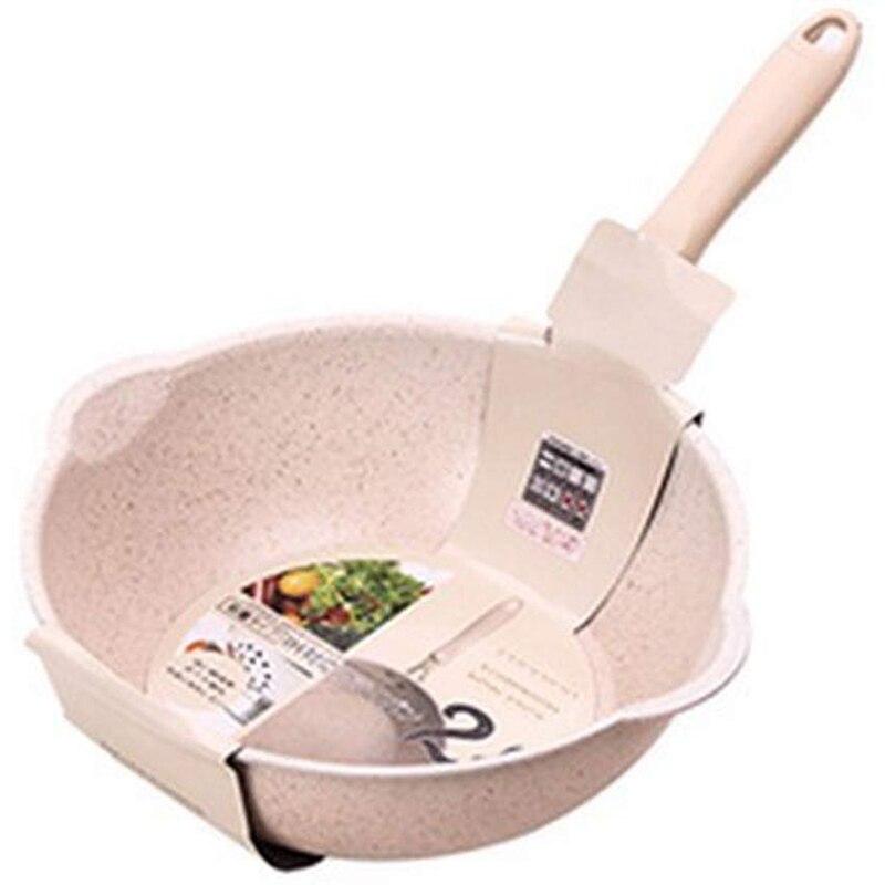 Thickened Bottom Medical Stone Frying Pan Multifunction Non-Stick Pans Deep Nougat Pot Big Mouth Wok Pan 20cm