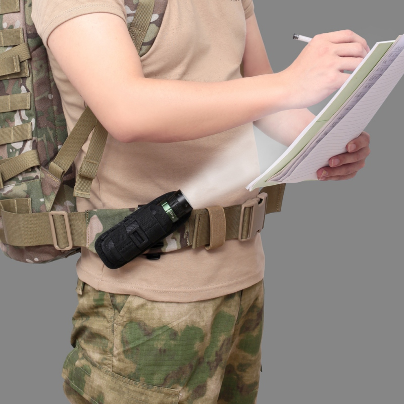 Tactical 360 Degrees Rotatable Flashlight Pouch Holster Torch Case For Belt Portable Torch Cover Holder Hunting Lighting Accesso