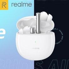 Oryginalne słuchawki OPPO Realme Air 2 bezprzewodowe słuchawki Bluetooth 5.2 z aktywną redukcją szumów Hi-Fi Bass Boost TWS słuchawki