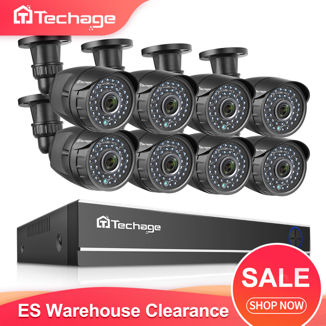 Techage 8CH 1080P Hdmi Ahd Dvr Kit Cctv Security System 2MP Hd Ir Nachtzicht Outdoor Camera Video Surveillance set 2 Tb Hdd