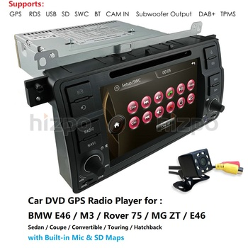 1 Din Car Multimedia player GPS Autoradio Stereo System For BMW/E46/M3/Rover/3 Series AM FM Radio RDS USB BT Mirror Link DAB CAM image