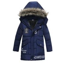 Winter Coat Boy Warm Thickening Fur Collar Child Children Outerwear Windproof Baby Boys Clothes Girls Jackets