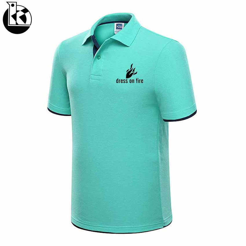 2019 New Fashion Black and White Flame Printed Men Polo Shirt Lapel Collar Slim Fit Tops Casual Classic Male Brand Polos Shirts