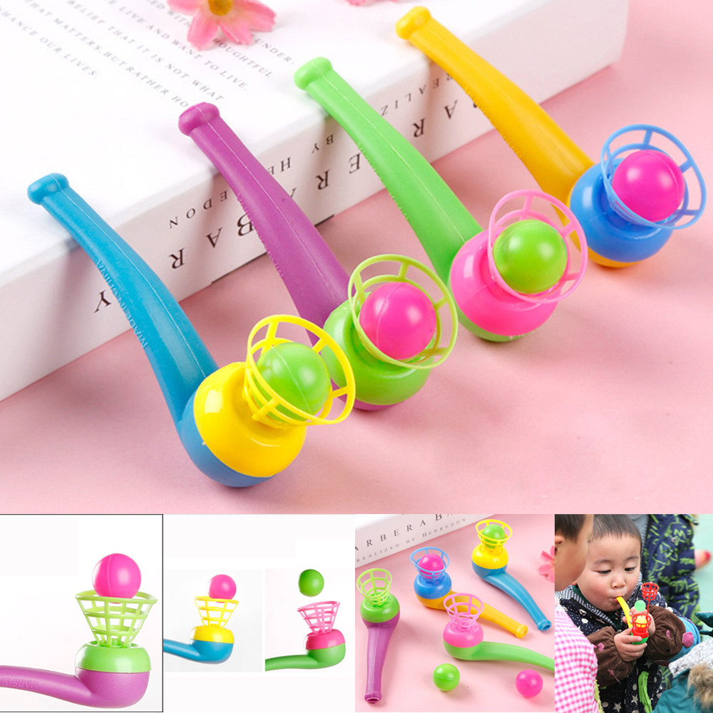Children Toys Blow Pipe & Balls - Pinata Toy Loot/Party Bag Fillers Wedding/Kids Ball Plaything brinquedos party Gift(China)