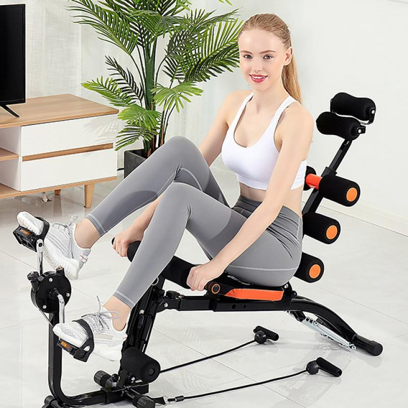 Adjustable Declined Sit Up Bench Mutifunctional Cycling Bike Abdominal Bench With Home Gym Fitness Bench-Crunch Push Up Board