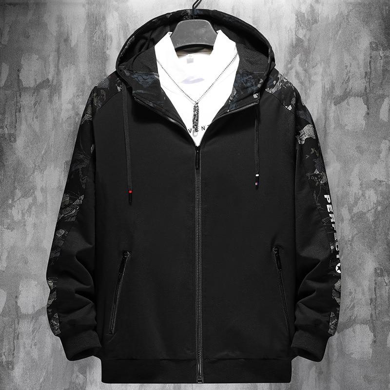 New 2020 Spring Autumn Men Design Clothes Casual Loose Streetwear Bomber Black Jacket Plus Big Size M-6XL 7XL 8XL 9XL