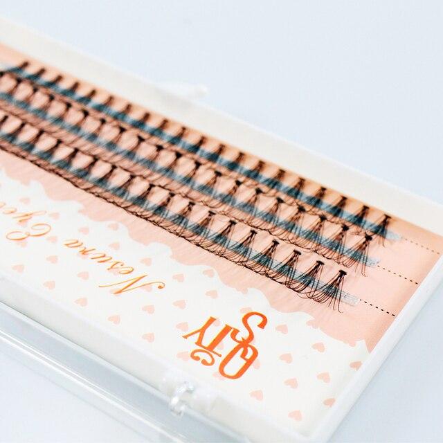 60 pieces 0.07 thickness hair C curl eyelash extension 8 10 12mm strip false eyelashes makeup individual lashes 5