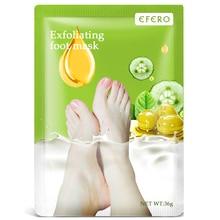 EFERO 1pack Whitening Baby Feet Mask Exfoliating Foot Peeling Mask Moisturizing Foot Cream For Cracked Heels Spa Socks Pedicure цена