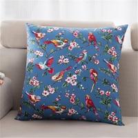Decorative Bird Pillow Sofas Line Pillowcase Cojiness Decoratif Flower Case Colorful Sofa For Throw pillows Home 7DJXZ3