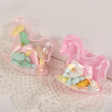 12pcs/lot Creative Horse Design Plastic Candy Boxes Wedding Favor Supplies Baby Shower Favors Birthday Party Decoration