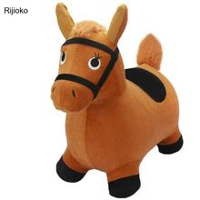 Children's Inflatable Toys, Music, Jumping, Horse, Horse, Baby, Thickened, Large, Riding, Red Bull, Pony, Jumping