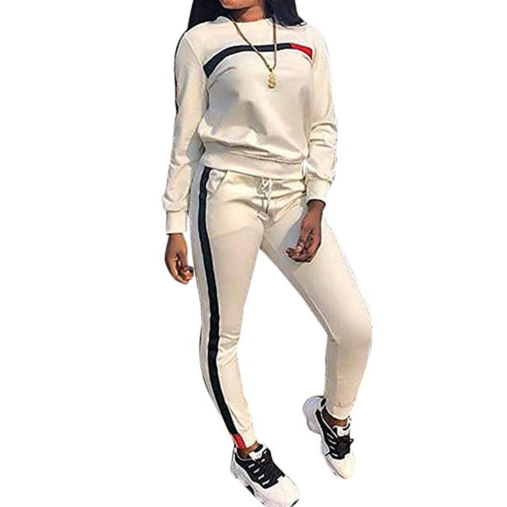 2020 New Autumn Winter 2 Piece Set Women Hoodies Tops Pants Lady Drawstring Trousers Tracksuit Sets Chandal Mujer 2 Piezas