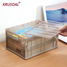Foldable Storage Box Plastic box Toy Makeup Organizer Books Container Sundries Basket Home travel storage organizer
