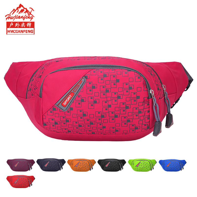 New Outdoor Fashion Sports Waist Pack Chest Bag Running Climbing Fishing Tennis Jogging Camp Travel Waist Bag Pack Unisex
