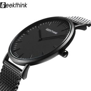 Image 1 - UltraบางนาฬิกาQUARTZ Mens Casualสีดำญี่ปุ่นควอตซ์นาฬิกาสแตนเลสไม้FaceนาฬิกาชายRelogio Masculinoใหม่