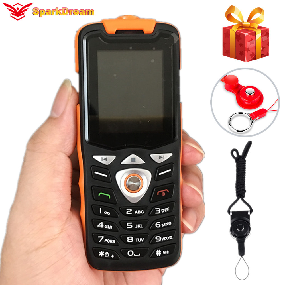 Noenname Null GSM New Flashlight Cellphone Big-Keyboard Push-Button Dual-Sim-Basic F1 title=