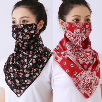 2020 New Women Face Scarf High Chiffon Print Mask Scarves Bicycle Anti Dust Sun Protection Reusable Neck Bandana - discount item  60% OFF Scarves & Wraps