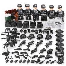 NEW SWAT Team Action Figures Military Soldier Mini Dolls Accessory Toys City Building Blocks Part Toys Compatible with Legoings(China)