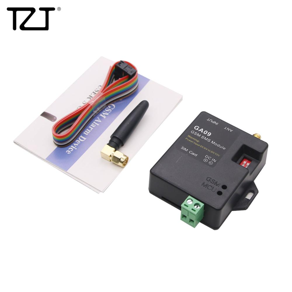 TZT Home Security GA09 GSM SMS Alarm System Wireless Module With 8 Alarm Input