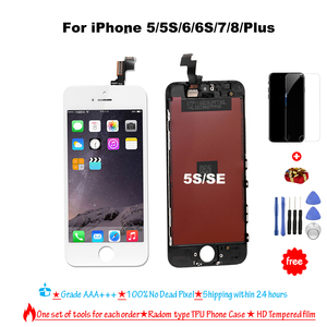 LCD Display For iPhone 4 5 6 7 8 6S Plus Touch Screen Replacement For iPhone LCD Display No Dead Pixel Grade AAA+++