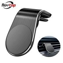 Магнитный автомобильный держатель для телефона Rovtop в форме L, держатель для мобильного телефона с креплением на вентиляционное отверстие в автомобиле, gps, держатель для мобильного телефона для iPhone, samsung, Xiaomi Z2