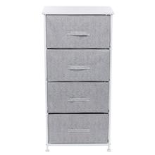 4 Laden Stof Nachtkastje Multi-layer Moderne Opbergkast Borst Kast Voor Thuis Slaapkamer Woonkamer Diversen Kast