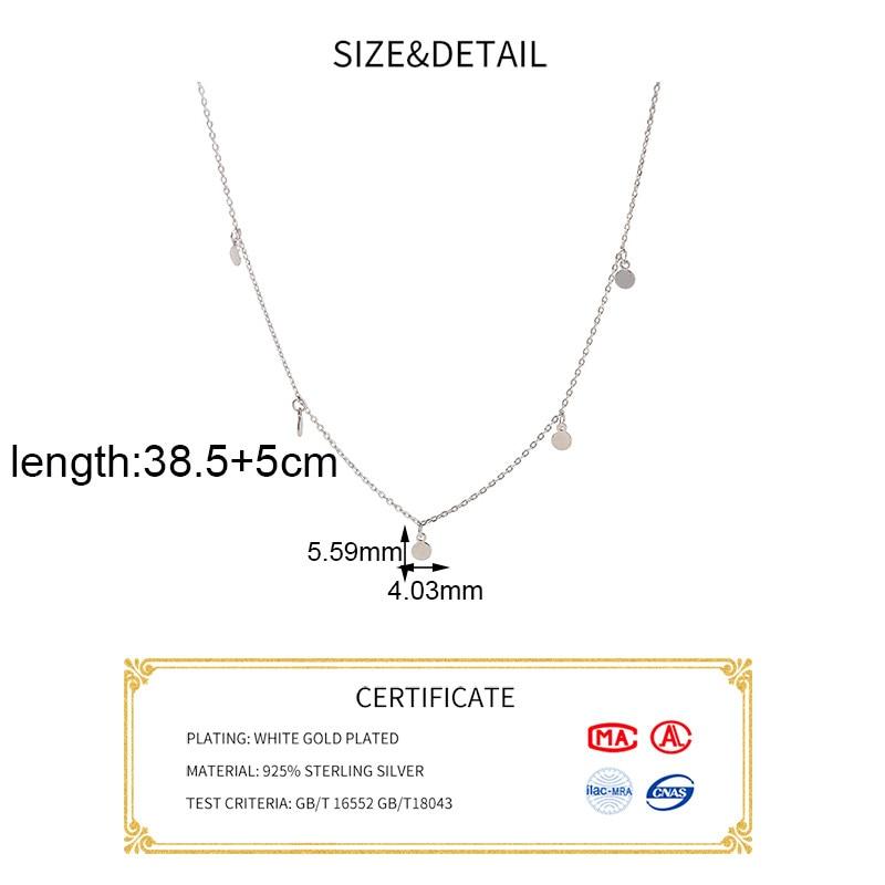 H471cc76bd56b4537a717cb21c7230a1aF INZATT Real 925 Sterling Silver Geometric Round Choker Necklace For Fashion Women Minimalist Fine Jewelry Cute Accessories 2019