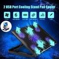 S SKYEE ノート Pc クーラー 2 USB ポートと 5 冷却ファン LED Usb ノート Pc 冷却パッドノートブックはノートパソコン PC 7-17 インチ