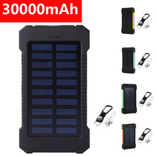 30000mAh Solar Power Bank For Xiaomi Samsung Powerbank Dual USB Solar Charger Portable External Battery Pack Power Bank(China)