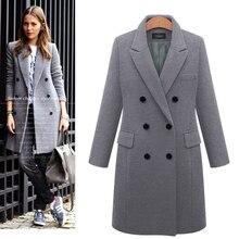 Fanco Autumn Winter Suit Blazer Women Formal Wool Blends Jac