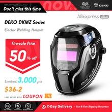 DEKO プロフレイムスカルソーラー自動暗くなる電気溶接マスク/ヘルメット/溶接機キャップ調整可能な溶接レンズ目マスク溶接機