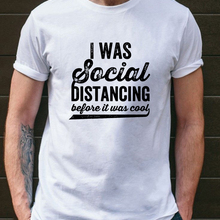 Funny T-Shirt Streetwear Social Distancing Short-Sleeve Fashion Letter Was O-Neck Tops