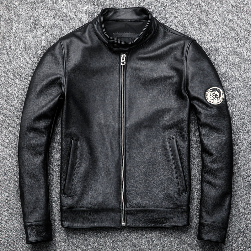Genuine Cow Leather Jacket Men Clothes 2020 Autumn New Real Leather Motorcycle Jackets Short Coat Jaqueta De Couro ZL406