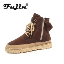 Fujin Women Ankle Boots Ladies Snow Dropshipping Female Winter New Shoes Warm Cotton