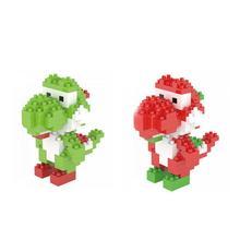 hot LegoINGlys creators Nintendo Game Image Super Mario Bros Yoshi Dinosaur Micro Diamond Building Blocks model bricks toys gift