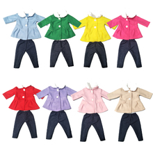 Baby Doll clothes set for 18 inch girl Doll jacket pants clothes 18