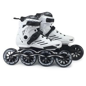 Image 2 - Tốc Độ Giày Trượt Patin Chuyên Nghiệp Nửa Giày Trượt Băng Giày 4*110/100Mm Bánh Xe Size 35 Đến 46 giá Rẻ Trượt Băng Rollerblade SH62